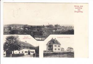 Gruß aus Loching bei Dingolfing, normalerweise Zeppelin Notlandung, gute AK, PH-Stelle, Jägerndorf, Helbig 70.-