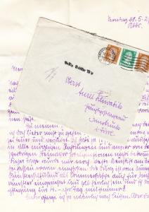 Brief 1927 nach Innsbruck, Postlagernd Stempel, Postlg. Gebühr 10g, Mittelbug