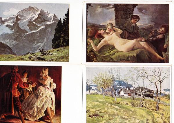 4 versch. Haus der deutschen Kunst, beste Erh. 0