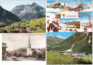 Österreich, Vorarlberg, 8 AK ab 30iger Jahre bis modern, gel./ungel. Kleinwalsertal