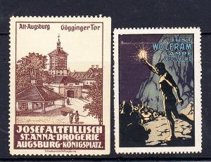 2 Augsburg Vignetten