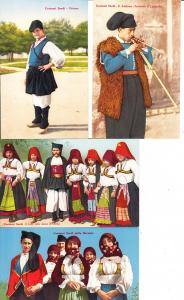 Italien, Sardinien, 4 einwandfreie sardische col-Trachten-AK