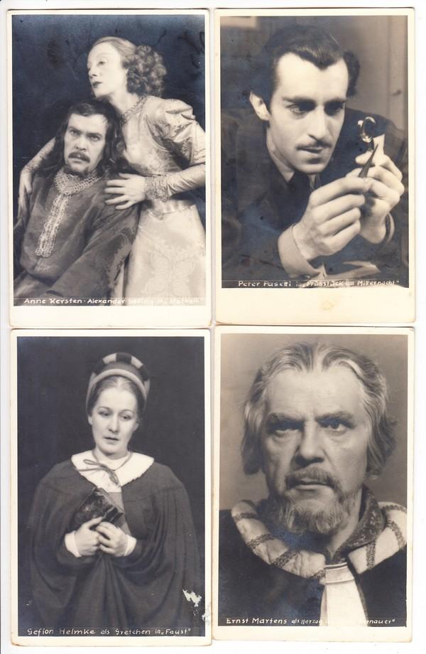 München, 7 Schauspieler, 20iger Jahre, kpl. in Ordnung, ungel. 0