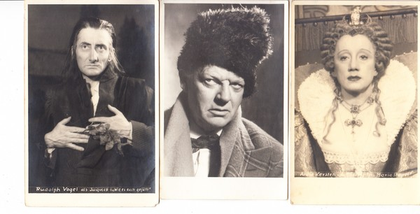 München, 7 Schauspieler, 20iger Jahre, kpl. in Ordnung, ungel. 1