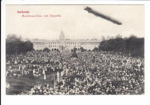 Karlsruhe, Zeppelin, viele Menschen