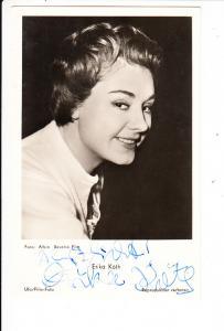 Erika Köth 1960, O-U, kurze Widmung