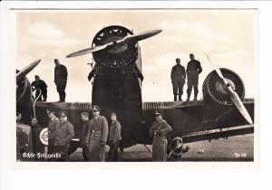 JU 52, Militärmaschine, gel. 1936 ab Giebelstadt, bis heute Kampfmittel belastetes Areal bei Würzburg, Landpost 1936