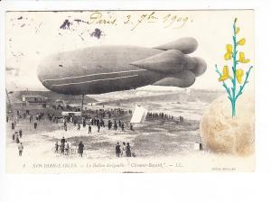 Frankreich, Zeppelin-AK, dekorative col. Zusatz, i.O., gel. 1909!!!