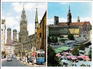 München, 2 Ak, öffentliche Verkehrsmittel dürfen dort heute nicht mehr fahren, ungel.