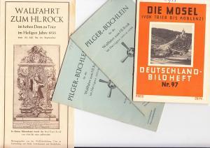 Trier, 2 Pilgerbüchlein 1933, Heiliger Rock, 1 Prospekt dazu, 1 Deutschlandheft, Erh. i.O.