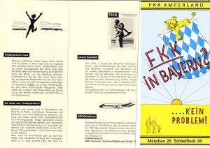 2 FKK-Prospekte, Bayern ca. 1965/70