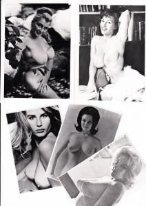 """7 O-Fotos, dabei 1 AK + 1 Akt-Prospekt v. 1962, """"Schönheit, die begeistert"""""""