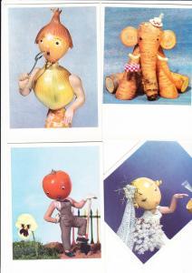 4 versch. Rox-Lebensmittel-Puppen-AK, eigenwillig, aber selten