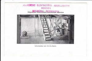 AEG - elektrische Mühle, gel. 1912, technische Rarität! AEG-Büro Memmingen