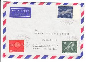 Luftpostbrief nach Ghana