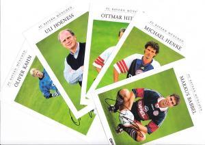 FC Bayern München, Saison 98/99, Opel Team, 23 versch. Autogramm-Karten, wie neu, davon 1 Klapp-AK