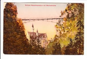 Kempten-Reuthe, guter Stpl. Zweikreiser auf Neuschwanstein-Karte
