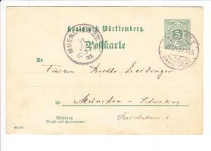 Nr. 165, würtembergische Bahnpost 1897