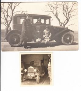 2 Oldtimer-Fotos, 1x AK Größe