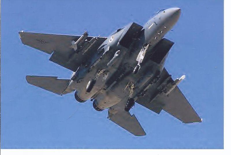 Kampfflugzeug , Foto USA AIR FORCE Mc.Donell as F 15E Eagle