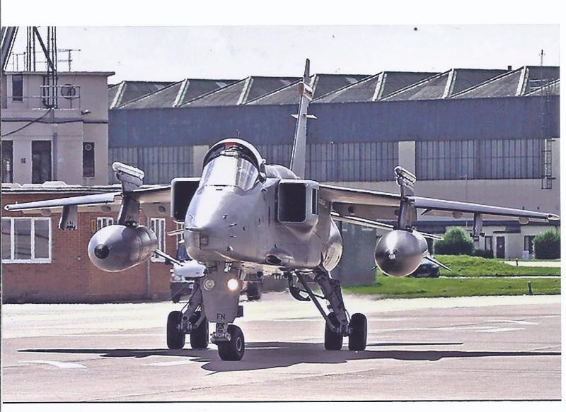 Kampfflugzeug Foto  UK-AIR-FORCE - Sepecat  Jaguar GR 3 A