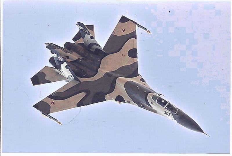 Kampfflugzeug Foto RUSSIA AIR FORCE Sukha SU 27 Flamker