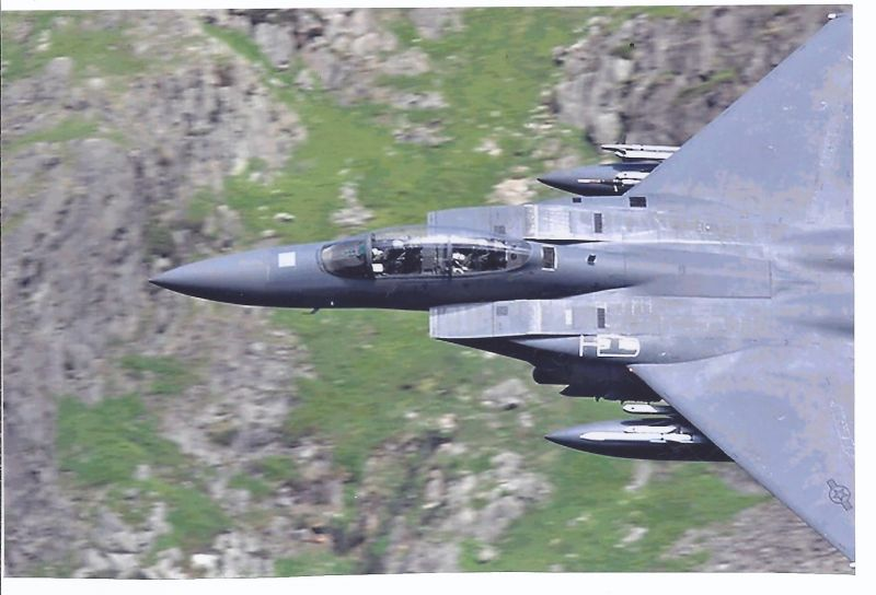 Kampfflugzeug Foto  USA AIR FORCE  McDonnell Douglas F 15 E Strike Eagle