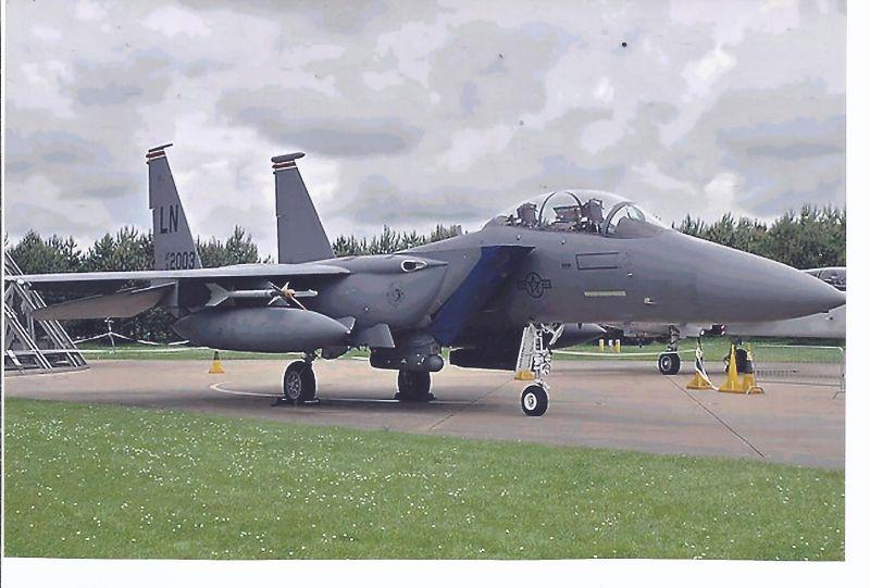 Kampfflugzeug Foto  USA AIR FORCE  McDonnell Douglas F 15 E , Strike Eagle