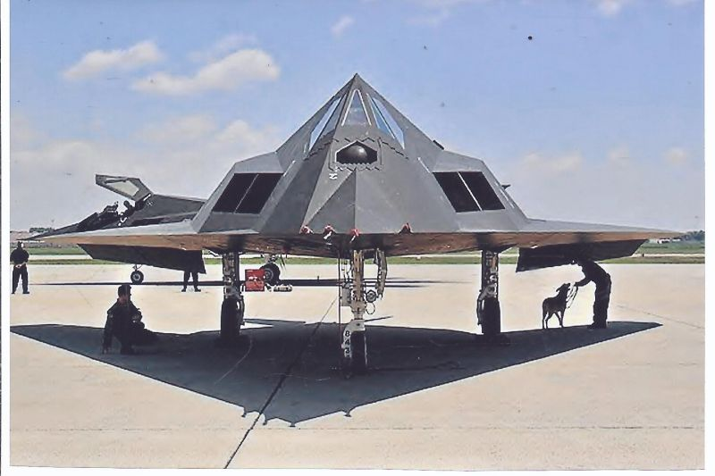 Kampfflugzeug Foto USA AIR FORCE  Lockhead F 117 A Nighthawk