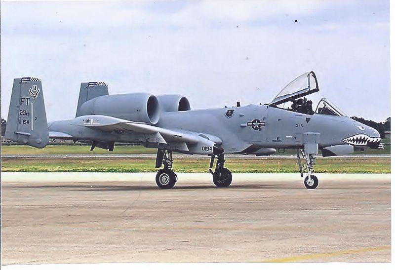 Kampfflugzeug  Foto USA AIR FORCE  Fairchild OA -10 A Thunderbold II