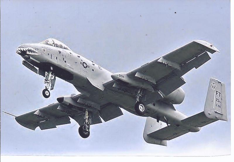 Kampfflugzeug Foto - USA AIR FORCE  Fairchild A 10 A Thunderbolt II