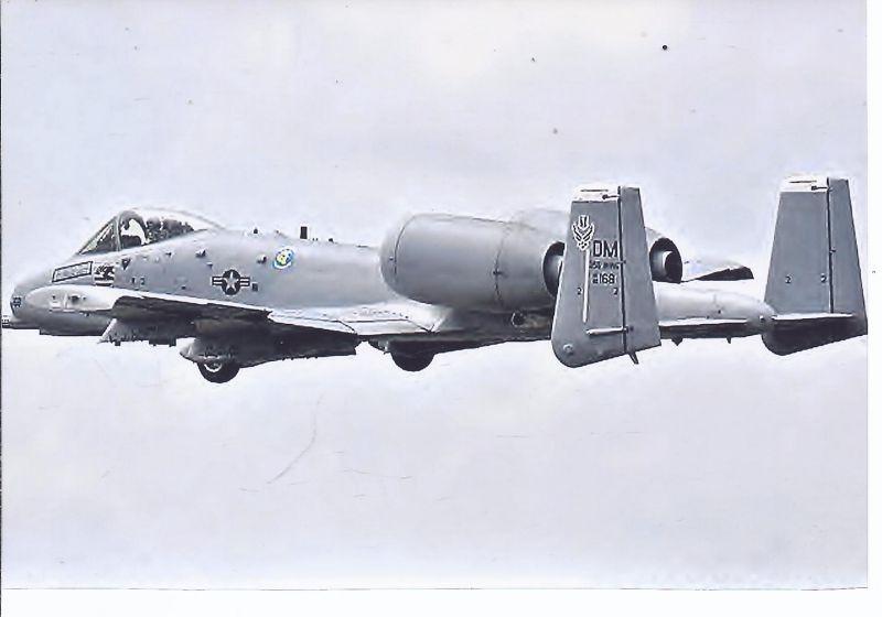 Kampfflugzeug Foto USA AIR FORCE  Fairshild A 10 A Thunderbold II