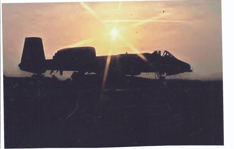 Kampfflugzeug Foto  USA Air Force Fairchild A 10 ... Thunderbold II