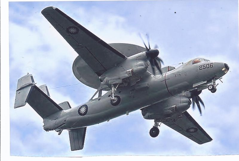 Kampfflugzeug Foto Taiwan AIR FORCE , Grumman E 2 T Hawkeye 2000