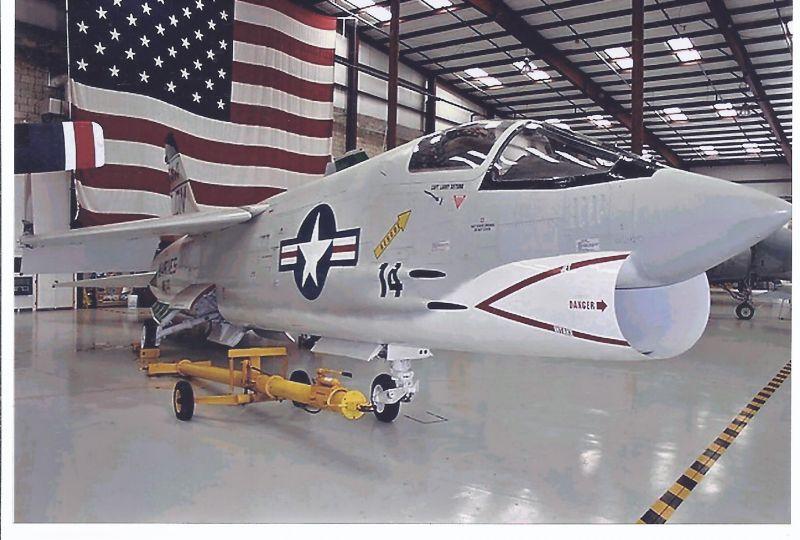 Kampfflugzeug Foto USA Marines Vought F - 8 K  Crusader