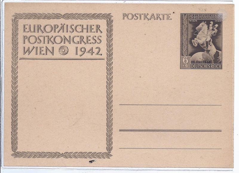 1373 Ganzsache  dt. Reich  Europäischer Postkongress Wien 1942
