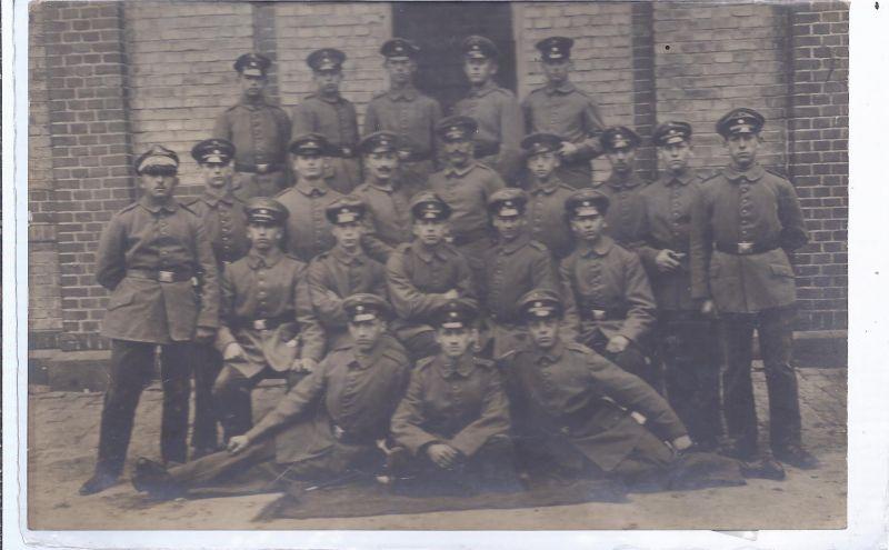 1376 Fotokarte Soldatengruppe I . WK -