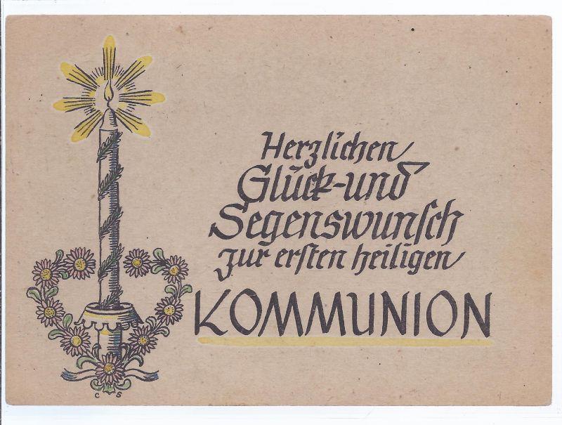 13812 Herzlichen Glück Und Segenswunsch Zur Ersten Heiligen Kommunion