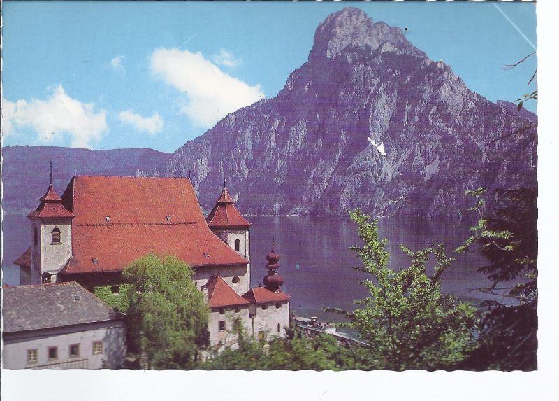 AK5-273 Traunkirchen o.Ö. Pfarrkirche mit Traunstein
