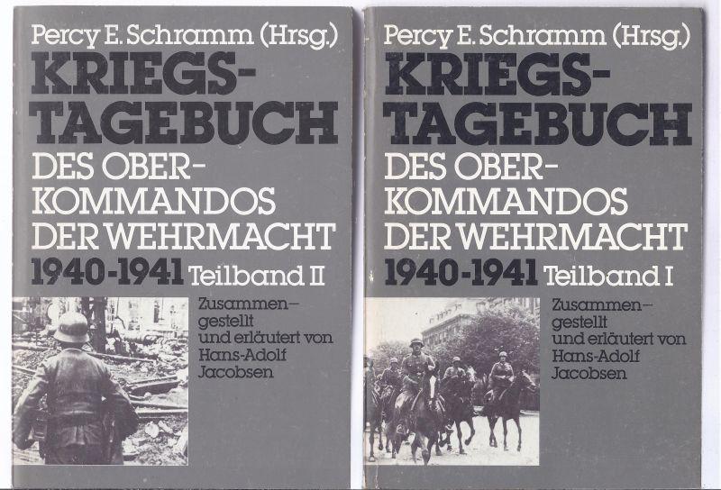 Percy E. Schramm KRIEGSTAGEBUCH  des Oberkommandos der Wehrmacht  1940 - 1941  - 2 Bände Taschenbuchausgabe   verscherter Versand