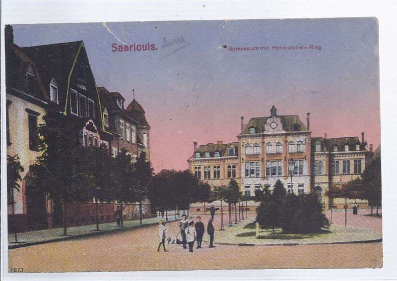 91398 - Saarlouis , Gymnasium mit  Hohenzollernring