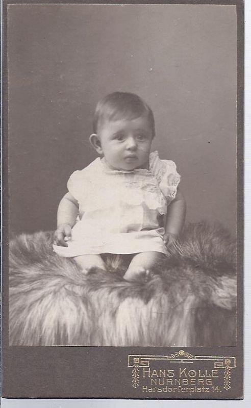 91302 - Hartkarton  Babyaufnahme , Atelier Hans Kolle , Nürnberg