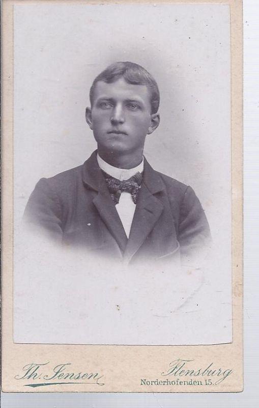 91302 - Hartkarton, Foto, junger Mann , Atelier Th. Thomsen, Flensburg