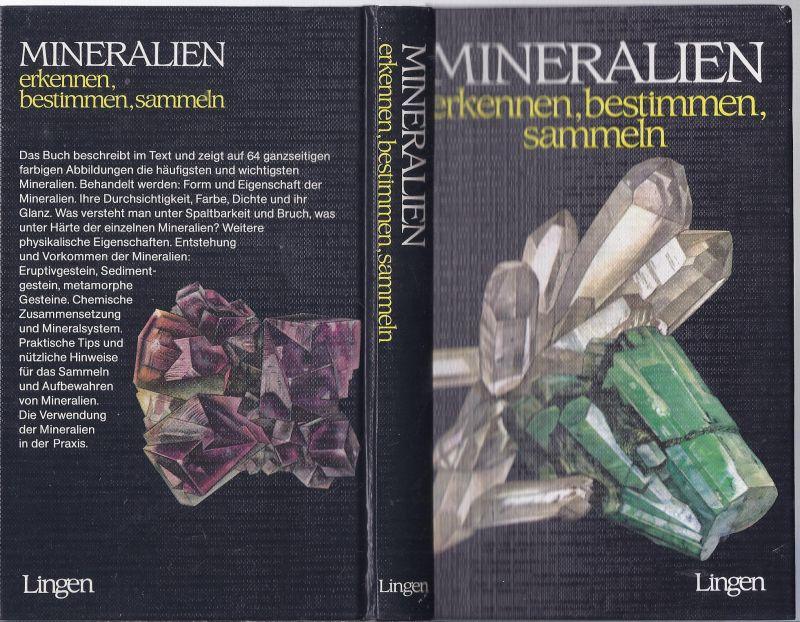 kepo-42 - Mineralien erkenn, bestimmen sammeln , Hartkarton Ausgabe Lingen Verlag , illustriert