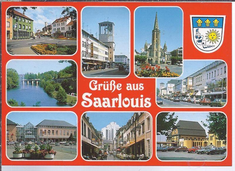 alb-8ooo  Saarlouis Saar- Mehrbild (9) Wappen