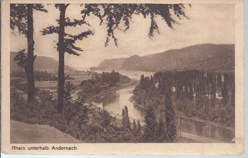2445  Rhein unterhalb Andernach , Militärpost