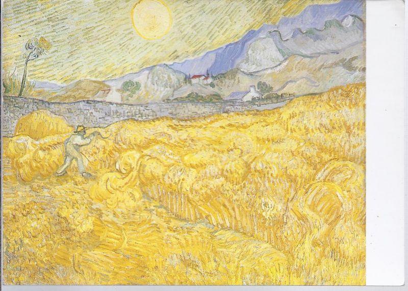 94435 Vincent van Gogh - Künstler - Gemäldekarte - Kornfeld mit Schnitter  - 1889