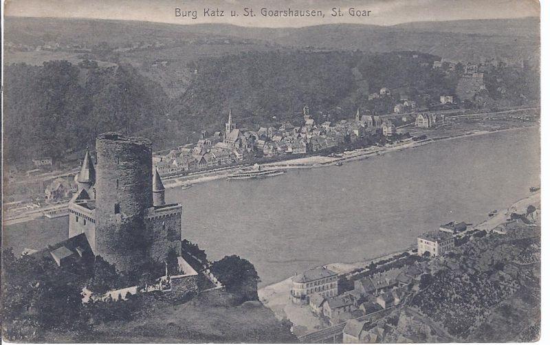 2528 Burg Katz und St. Goarshausen , St. Goar - Militärpost 1919