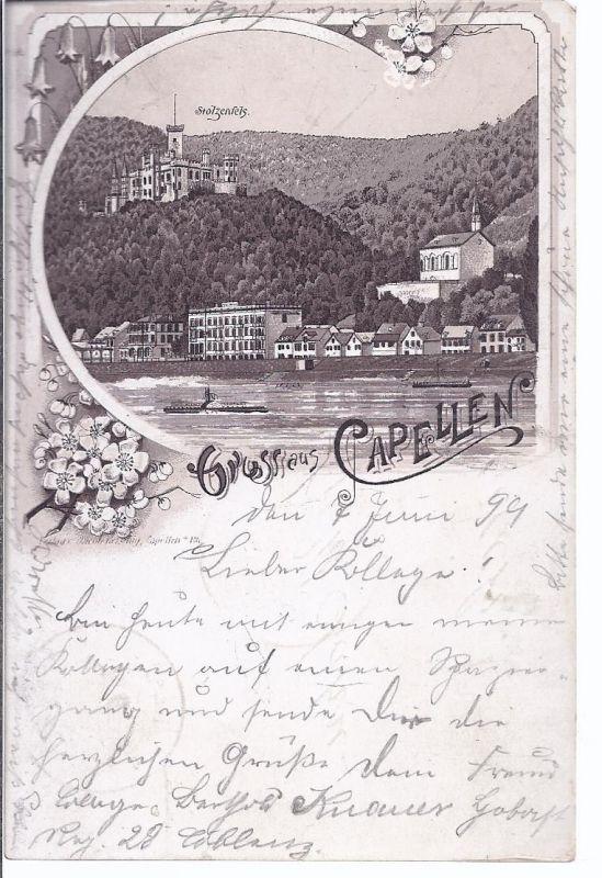 2662 Capellen  Rhein  - Militärpost  nach Aurich 1899