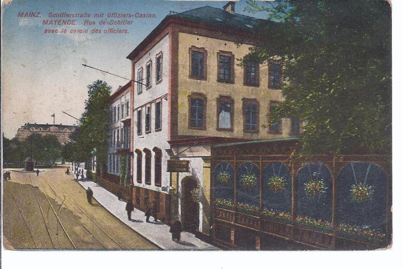 2825 Mainz, Schillerstraße mit Offiziers Casino